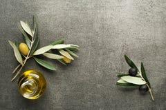 Olivoljabakgrund Arkivfoto