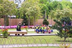 Oliwa в Гданьск, детях, детском саде стоковые фото