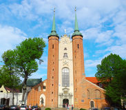 Oliwa Cathedral in Gdansk. Gdansk, Poland - 7 May, 2015: Gdansk Oliwa Archcathedral. Christianity catholic church Stock Images