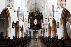 Oliwa Cathedral inside. Sopot, Poland - March 07 2016: Interior of the Oliwa Cathedral, located in Oliwa park of Gdansk Royalty Free Stock Photo