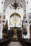 Oliwa Cathedral inside. Sopot, Poland - March 07 2016: Interior of the Oliwa Cathedral, located in Oliwa park of Gdansk Stock Photos