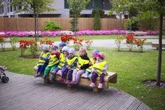 Oliwa in Gdansk, children, kindergarten royalty free stock photos