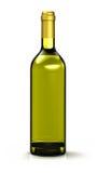 Oliwa z oliwek butelka na bielu Zdjęcia Stock