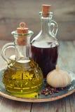 Oliwa z oliwek i wina ocet Zdjęcie Royalty Free