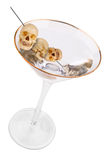 oliwek martini w czaszki Fotografia Royalty Free