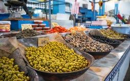 Oliwki na rynku odpierającym w Wschodnim kraju zdjęcia royalty free