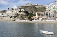 Oliwki wyrzucać na brzeg w Cullera, Hiszpania (Walencja) obrazy stock