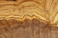 Oliwna drewniana tekstura Zdjęcia Stock