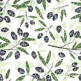 Oliwny Bezszwowy wzór Zdjęcie Royalty Free