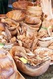 Oliwny drewno handcrafts obraz stock