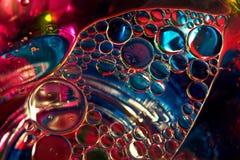 Olja bubblar Fotografering för Bildbyråer