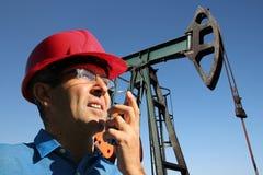 olja för begreppsgasindustri Arkivbilder