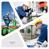 olja för gasindustri Arkivbild