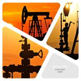 olja för gasindustri Royaltyfri Fotografi