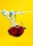 Olja gömma i handflatan frukter plaskar Arkivfoto
