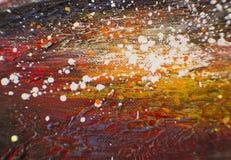 Olja målad abstrakt sammansättning Arkivbilder