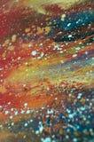 Olja målad abstrakt sammansättning Arkivfoton