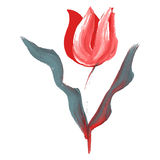 Olja målad blomma royaltyfri illustrationer