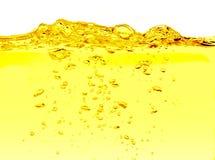 Olja med luftbubblor på viten Arkivfoton