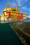 Olja och gasar överföringsplattformar Royaltyfri Foto