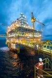 Olja och gasar överföringsplattformar Royaltyfri Bild
