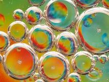 Olja och vatten Arkivfoto