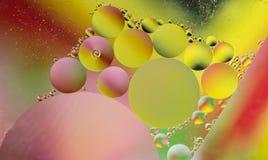Olja och vatten Arkivbild