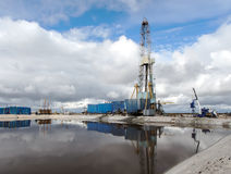 Olja pumpar gasar Arkivbilder
