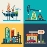 Olje- återställning stock illustrationer