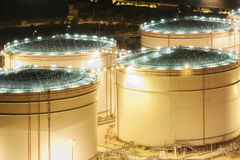 Olje- behållare Arkivbild