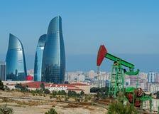 Olje- brunnar av Baku Royaltyfri Foto