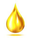 Olje- droppe stock illustrationer