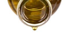 Olje- droppe på en flaska Royaltyfri Foto