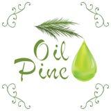 Olje- droppe, sörjer oljaskönhetsmedlet som faller från leef med garneringbeståndsdelar på vit bakgrund Royaltyfria Foton