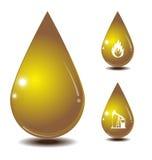 Olje- droppisolat på vitbaksidajordning stock illustrationer