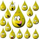 Olje- dropptecknad film med många uttryck stock illustrationer