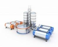 Olje- fabrik stock illustrationer