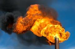 Olje- fackla royaltyfria bilder