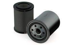 Olje- filter för bil stock illustrationer