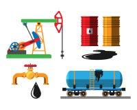 Olje- illustration för extraktiontrans.vektor Arkivbild