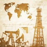 Olje- infographics Arkivfoton