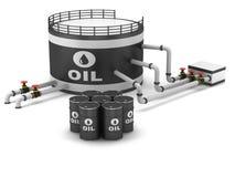 Olje- lagring tankar stock illustrationer