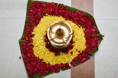 Olje- lampa för den Onam festivalen Kerala Indien fotografering för bildbyråer