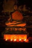 Olje- lampor som skiner i natten Royaltyfria Foton