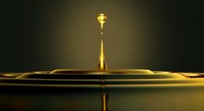 Olje- liten droppe Arkivfoton
