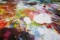Olje- målarfärg för abstrakt akryl för färgpalett Abstrakt konst Paintin Royaltyfri Bild