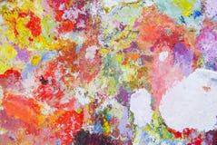 Olje- målarfärg för abstrakt akryl för färgpalett Abstrakt konst Paintin Arkivfoto