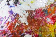 Olje- målarfärg för abstrakt akryl för färgpalett Abstrakt konst Paintin Arkivfoton