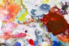 Olje- målarfärg för abstrakt akryl för färgpalett Abstrakt konst Paintin Royaltyfria Foton