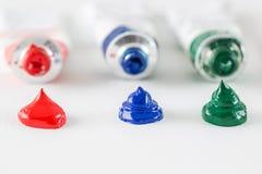Olje- målarfärger Arkivbild